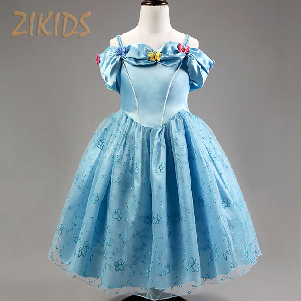 Summer Girl Dresses for Girls Cinderella Dress Festival Party Cosplay Costume Butterfly Princess Dress Kids Clothes 2017 Sale girl dresses cinderella dress costume princess party dresses girls christmas clothes fresh butterfly dress for teenagers