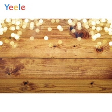 Yeele Wood Natural Texture Bokeh Lights Room Decor Photography Backdrop Personalized Photographic Backgrounds For Photo Studio