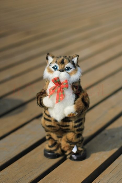 ФОТО cute simulation brown cat toy electric cat toy singing and dancing cat doll gift about 30cm
