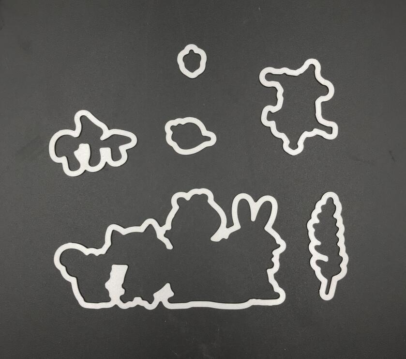 Fox, coniglio Taglio Muore Stencil per DIY Scrapbooking/Carte Decorative Goffratura di Carta FAI DA TE Che Fanno A823