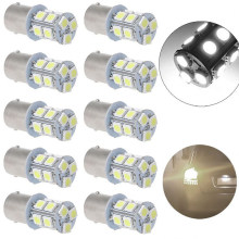 10pcs lga 1156 car light plate Cob P21w 12Smd BA15S DC 12v Down Bulb RV Trailer Truck Car Light Parking Auto Led Backup Lamp(China)