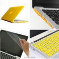 4на1 желтый матовый прорезиненные жесткий чехол ( 11 цветов ) + клавиатура + пленка + разъем для Apple Macbook Air 13 '' дюймовый бесплатная доставка
