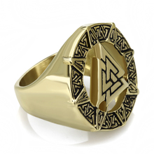 Vikings Odin Symbol Silver Stainless/Gold Steel Ring Jewelry 2017for Anniversary, Engagement, Gift ,Party