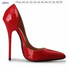 Crossdresser Plus:40-45 46 47 48 49 50 Gold Bottoms 14cm thin heels sexy Sandals Suede Stilettos red Nightclub pumps women shoes