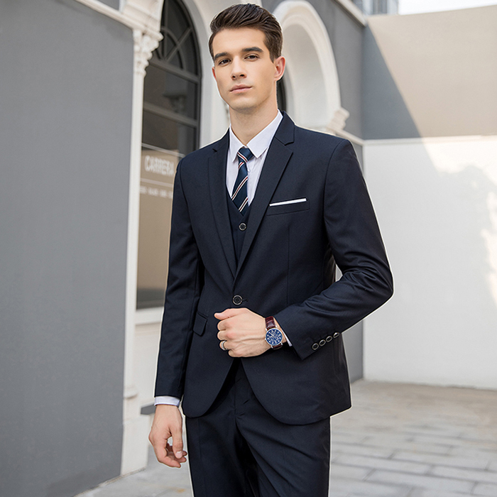 MarKyi spring new solid terno masculino slim fit good quality mens italian suit plus size 5xl 3pieces mens suits handmade