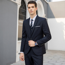 MarKyi spring new solid terno masculino slim fit good quality mens italian suit plus size 5xl 3pieces suits handmade