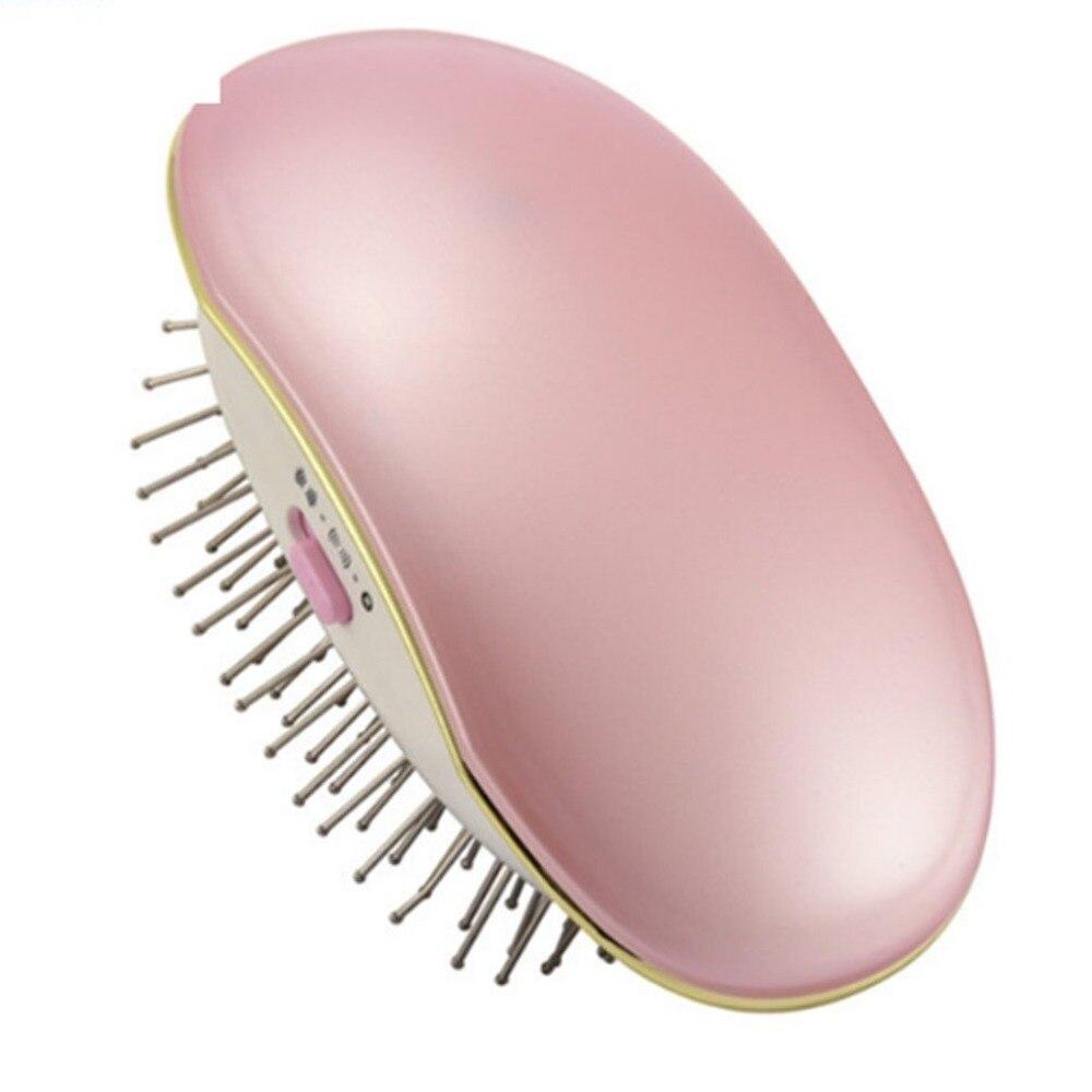 Eléctrico iónico pelo peine cepillo de masaje de la cabeza de cuero cabelludo peine relajarse de Frizz libre suave portátil cabello herramientas