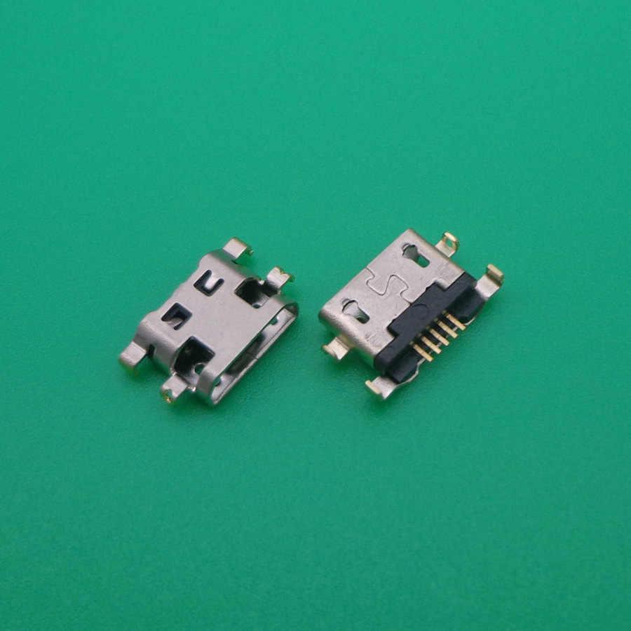 10 pcs Voor Alcatel 6035R Idol S 4033 4033D POP C3 C7 7041D micro usb charging jack connector plug dock socket poort