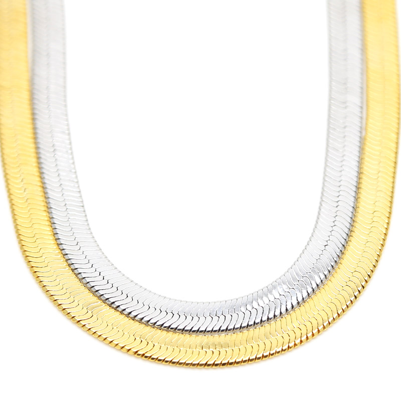 JHNBY Flat Necklaces Gold-color Fashion HipHop Franco 76cm Long snake Link Chain bboy 2pac tupac chain Unisex MEN jewelry 2017 светоотражатель westcott gold silver panel 76cm 1334
