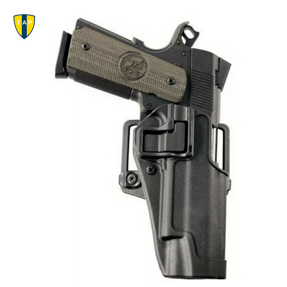 CQC Tactical Army Gun Holster For Colt 1911 Holsters Military Airsoft  Paintball RH Holster W/ Belt Loop Waist Paddle