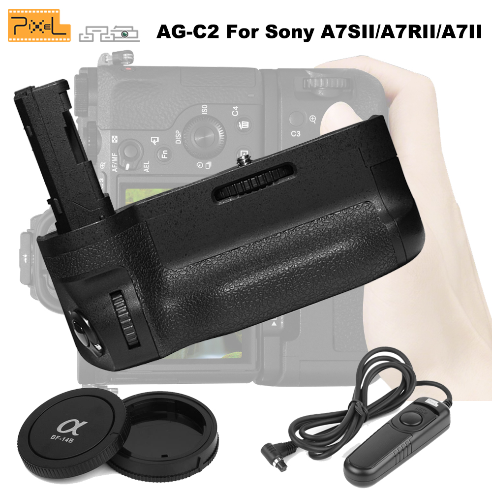 For Sony A7SII/A7RII/A7II Cameras Pixe AG-C2 Profession Battery Grip+PIXEL RC-201 RC-201/S2 Wired Shutter Remote Control Cable it8712f a hxs