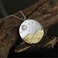 Agradable de calidad superior natural de la vista la luz de la luna collar colgante special diseño de la joyería para las mujeres auténtica plata de ley 925