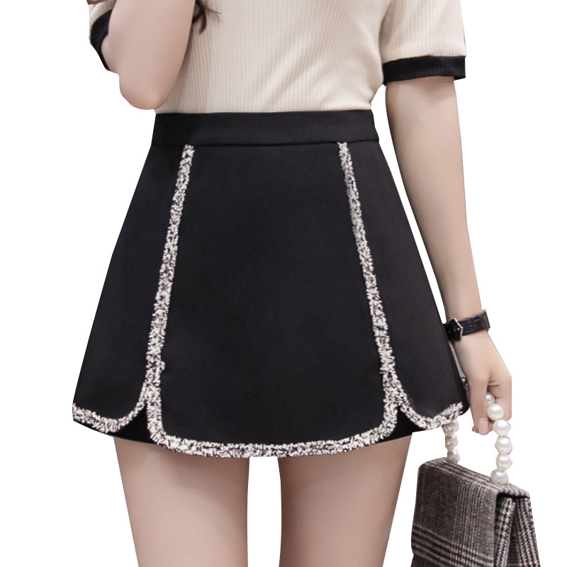 2019 New Women Hit Color Tassel   Shorts   Skirts Summer Womens High Waist Wide Leg Office Work   Shorts   Korean A Line Ladies   Shorts