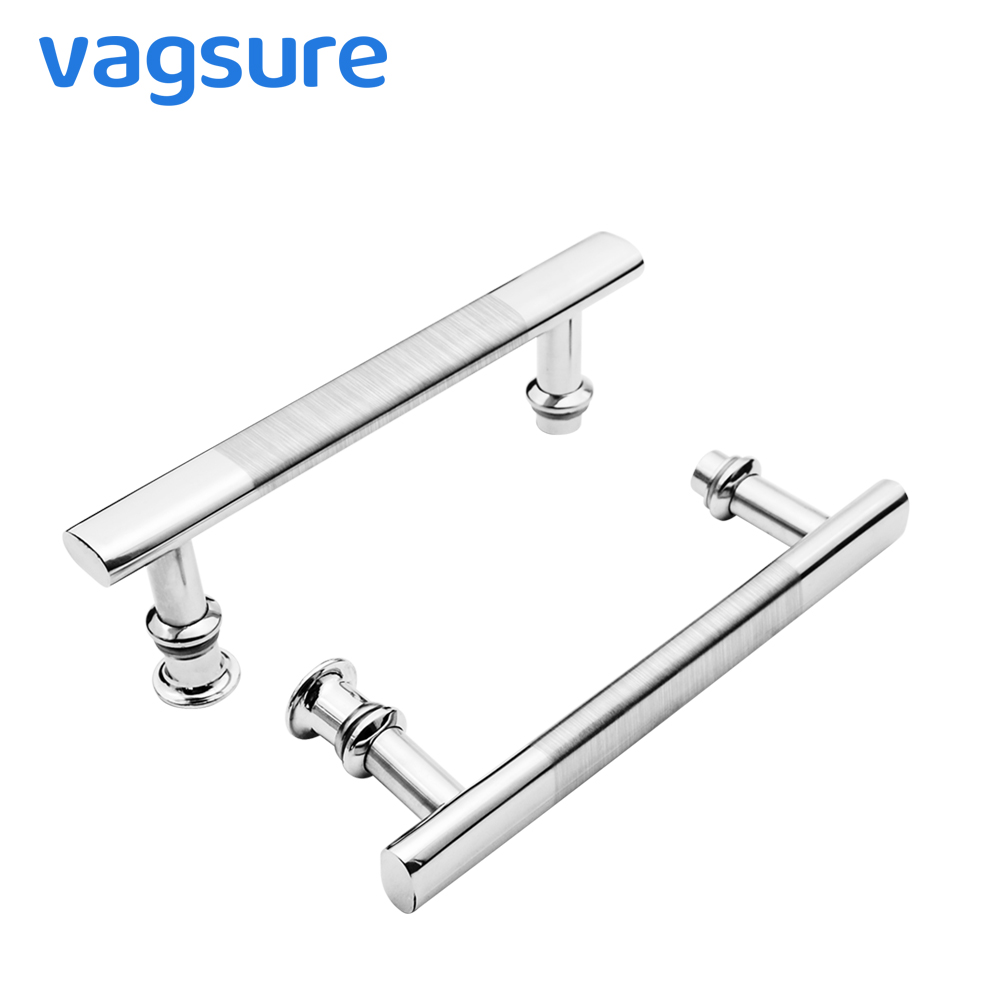 New 2pcs/lot ABS + Stainless Steel Brushed Sliding Glass Door Handles For Shower Enclosure Steam Sauna Room Hole Distance 14.5cmNew 2pcs/lot ABS + Stainless Steel Brushed Sliding Glass Door Handles For Shower Enclosure Steam Sauna Room Hole Distance 14.5cm