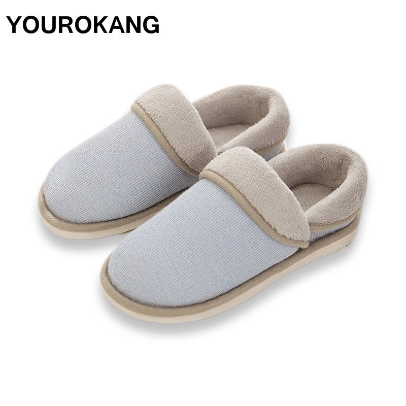 YOUROKANG 2018 Indoor House Slipper Soft Plush Cotton Slippers Shoes Non-Slip Cute Floor Home Furry Slippers Women Shoes Unisex 2017 indoor house slipper soft plush cotton cute slippers shoes non slip floor indoor house home furry slippers women sh ws337