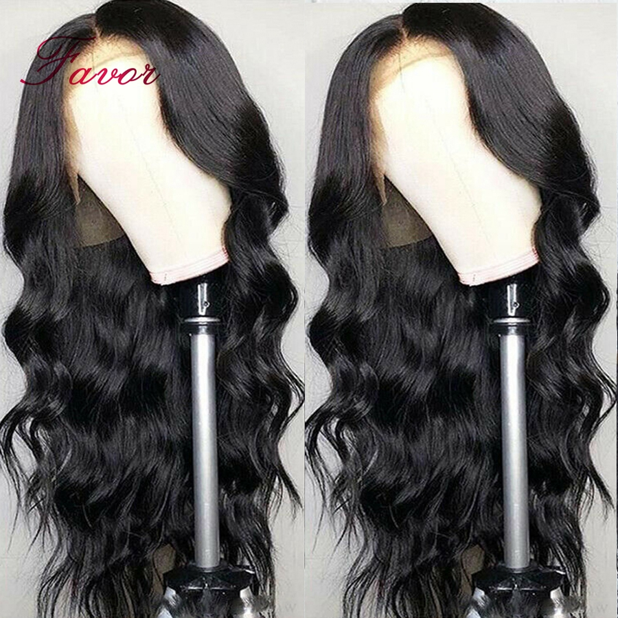 13x4 Brazilian Loose Body Wave Human Hair Wig Remy Hair Lace Front Wig With Baby Hair