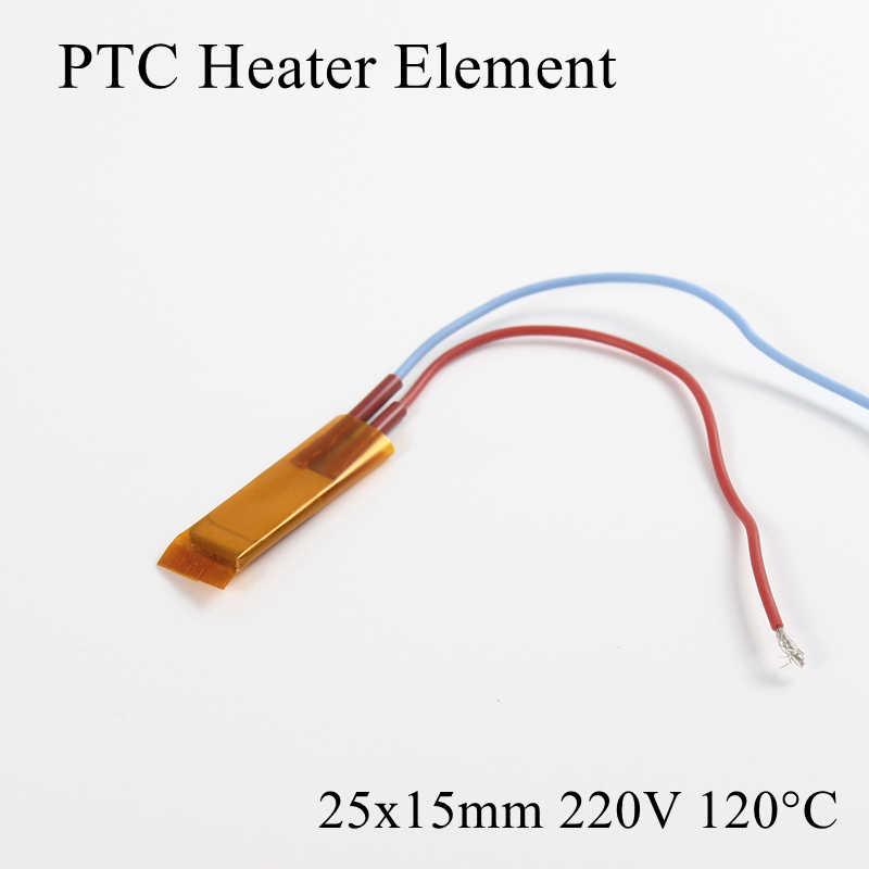 1 pc 25x15mm 220 V 120 Grad Celsius PTC Heizung Element Konstante Thermostat Isolierte Thermistor Keramik Air heizung Platte Chip