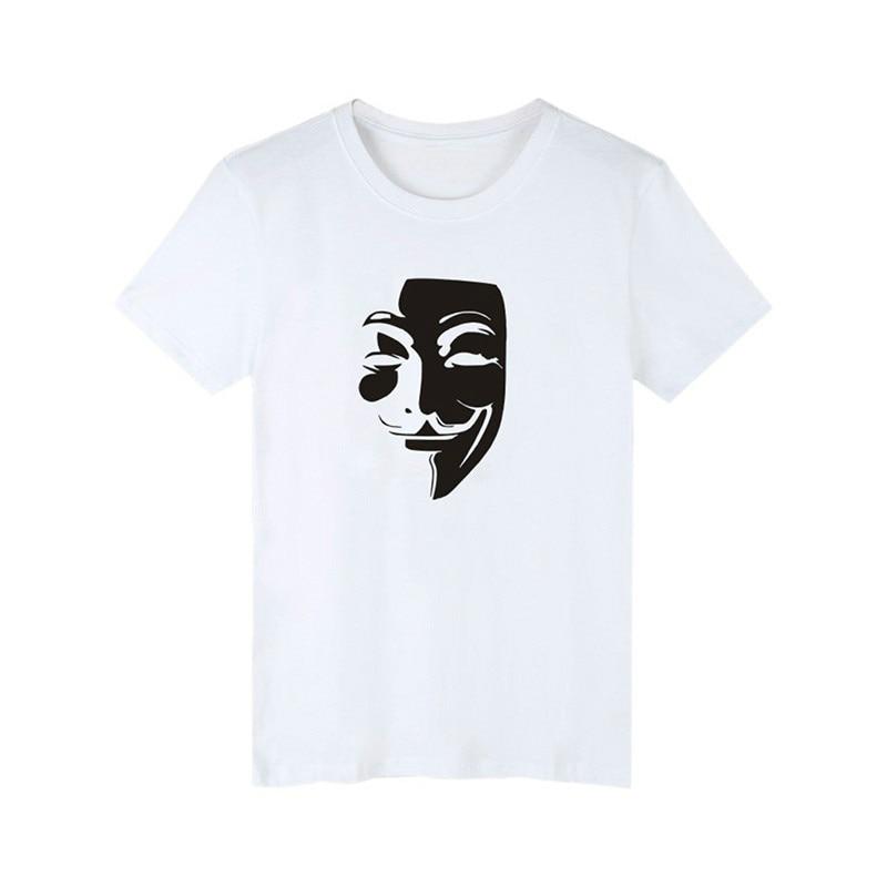 GUMPRUN 2018 Mens Short Sleeve V Character Vendetta 3D Printing Mens T-Shirt Harajuku Style Mens Casual Fashion T-Shirt