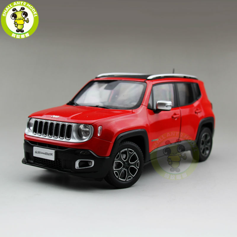 1/18 Renegade Cherokee Diecast Metal Car Suv Model Collection Gift Red Color