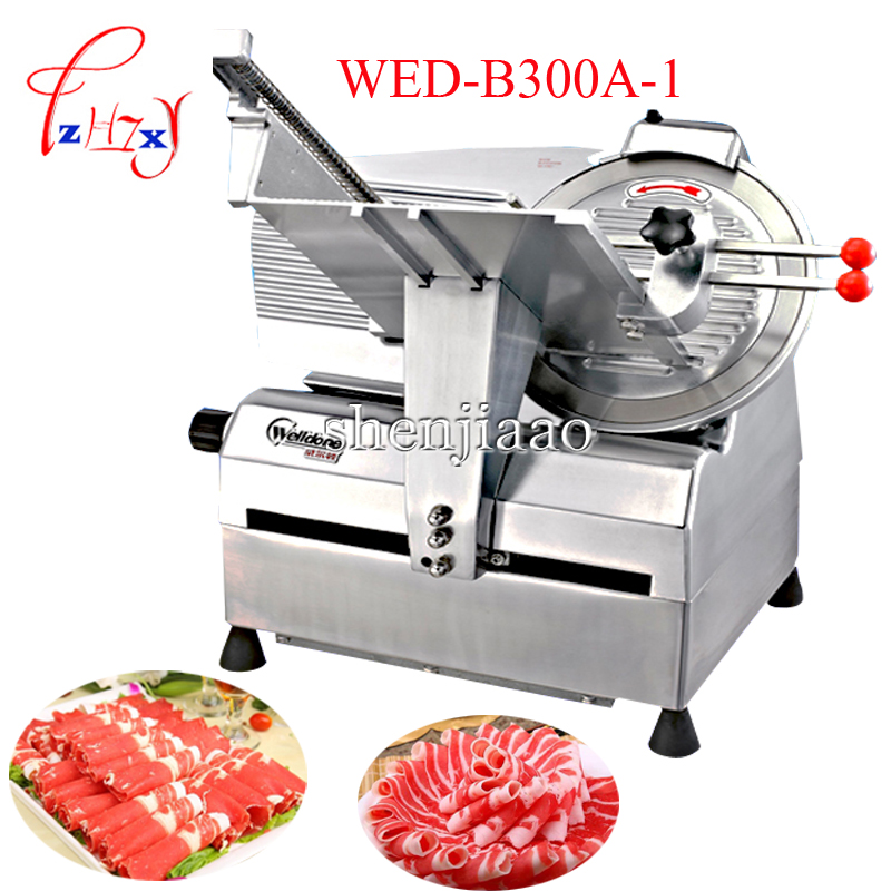 12 Inch Automatic Cut Meat Machine WED-B300A-1 Commercial Restaurant Meat Slicer Pork Hot Dog Slicer 40pieces/min 220V 1PC