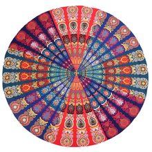 3f507c562cb1 2018 Redonda Toalha Indiano Mandala Floral Imprimir Tapeçaria Da Suspensão  De Parede Praia Jogar Yoga Mat