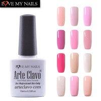 아르테 Clavo 10 미리리터 핑크 시리즈 네일 젤 폴란드어 12 개/