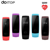 DOITOP QS80 Smart Wristband Blood Pressure Heart Rate Monitor IP67 Smartband Fitness Tracker Bluetooth Bracelet For IOS Android