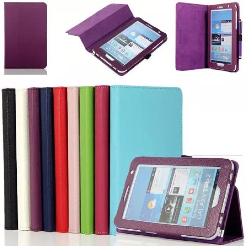 Nouveau Folio Livre Pour Samsung tab 2 P3100 Cas PU Stand Funda Couverture pour Samsung Galaxy Tab 2 7 P3100 GT-P3100 GT-P3110 Coque