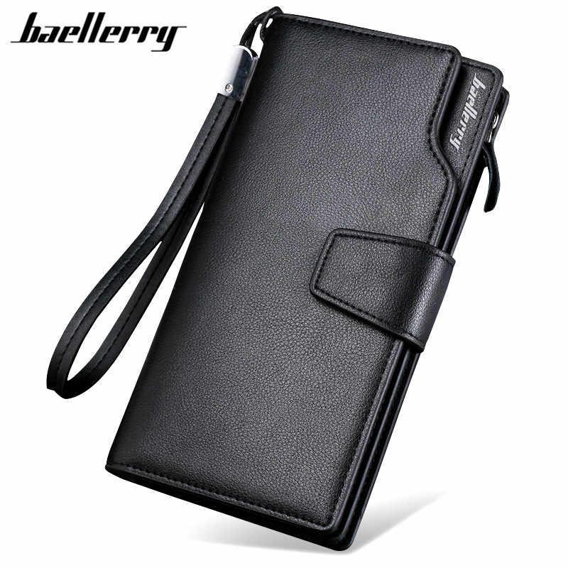 dd45ee2fce29 Baellerry 2017 Элитный бренд для мужчин женские кошельки Длинные кошелек мужской  клатч кожа молния мужской деловой