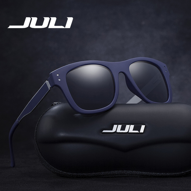 JULI Óculos Polarizados Homens Marca de Moda Designer de Óculos de Aviador Óculos de Sol Rebite Para O Sexo Masculino Feminino Unisex Ocluos De Sol