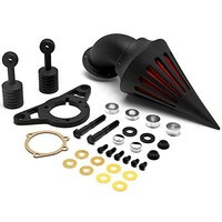 Motorcycle Parts Air Cleaner Filter/Air Intake Systems For Harley Davison Softail Fat Boy Dyna Street Bob Wide Glide BLACK