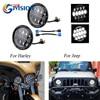 For Jeep Wrangler JK TJ CJ Cruiser Hummer H1 H2 Motorcycle 105W Led Headlight 12V 24V