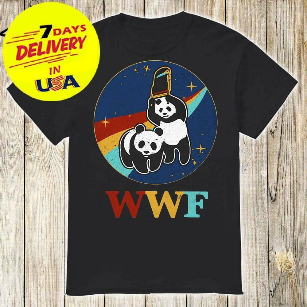 Retro Wwf Panda Bear Wrestling Funny Shirt 2019 New Arrival Men'S Fashion Funny Tees Men Short 3D Print T Shirt(China)