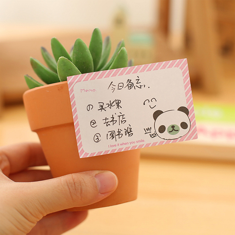 Image 3 - 50 PCs Korean Stationery Cute Stickers Cartoon Creative Notes South Korean Memo Sheets  Kawaii StationeryMemo Pads   -