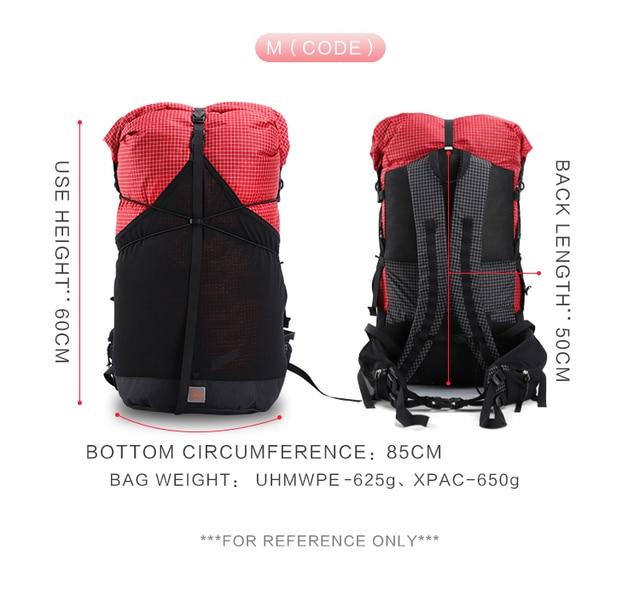 3F UL Trajectory 35L XPAC & UHMWPE Ultralight Hiking Backpack 2