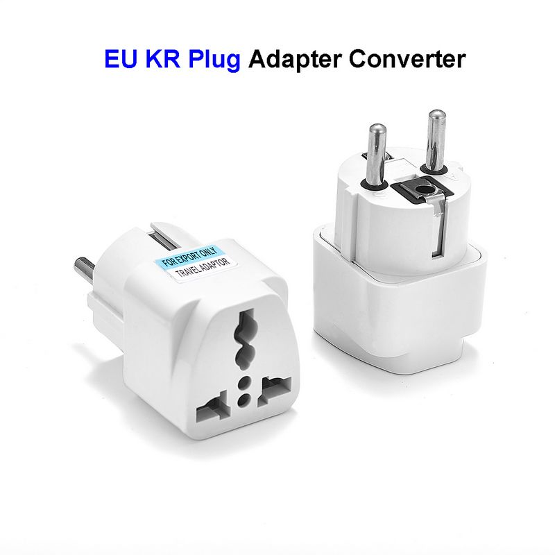 Universal EU Plug Adapter 2 Pin US UK To European Europe Euro German KR Travel Adapter Converter Electrical Socket Plug Outlet 1pcs rose diary hero alliance pu zipper coin purses zero wallet child girl boy women purse lady zero wallets coin bag key bag