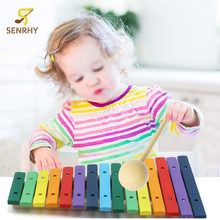 SENRHY  Xylophone 15 Note Keys  Aluminum Plate Piano Percussion Wood PineKid Musical Toye Play Pine Musical Instruments