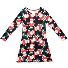 Parent-child Xmas Dress Women Girl Santa Claus Family Outfit Christmas Dresses
