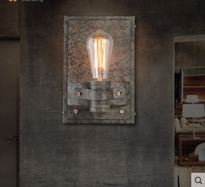 Фотография IWHD Wrount Iron Edison Wall Lamp Vintage In American Retro Industrial Wall Sconce Stair Light Lampara Pared