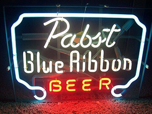 Pabst Blue Ribbon Beer Glass Neon Light Sign Beer BarPabst Blue Ribbon Beer Glass Neon Light Sign Beer Bar