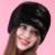Otoño invierno nieve caliente Super show mujeres genuino del rex mink fur muffs estilo de rusia señora luxur pelo sombrero de piel de piel precioso