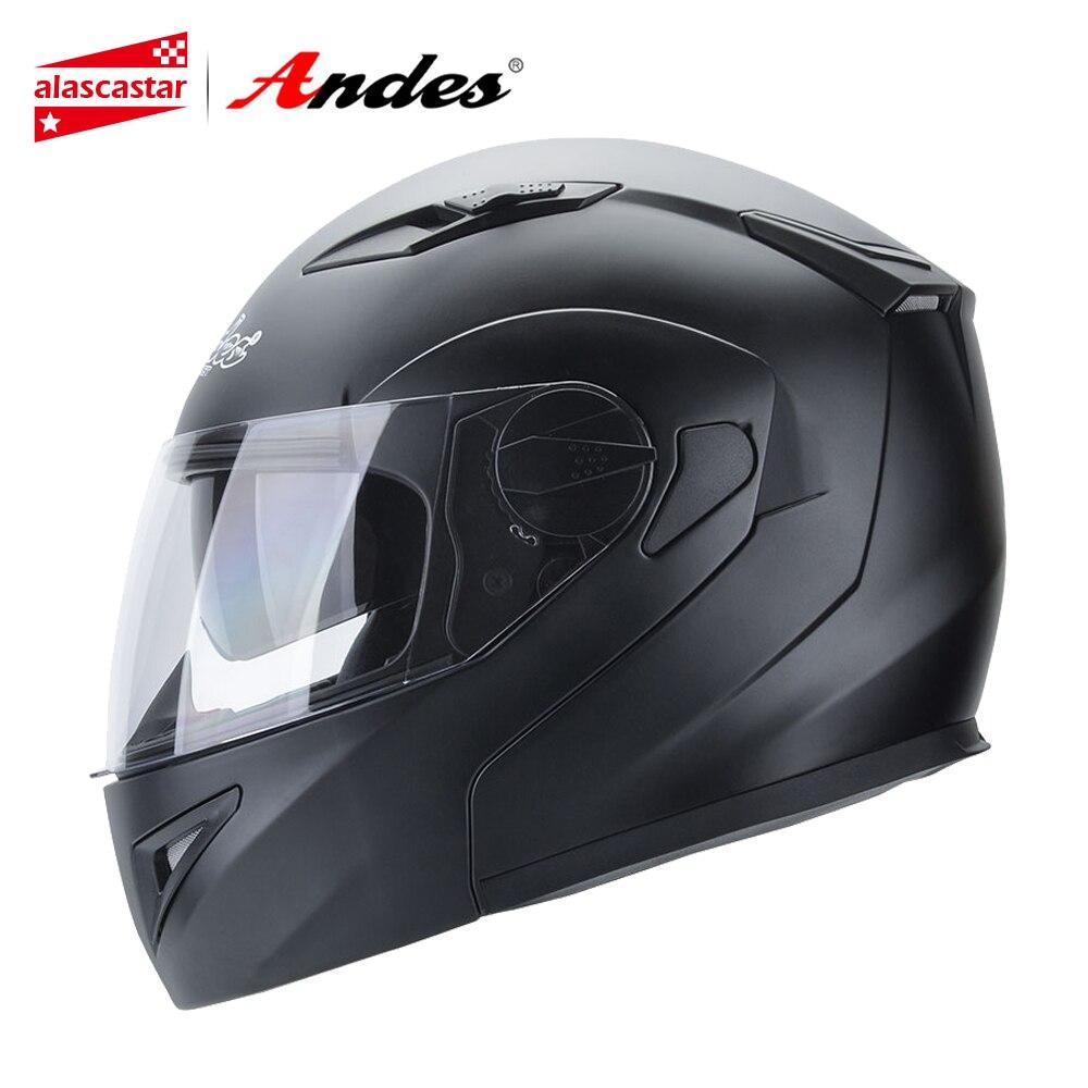 цена на Andes Motorcycle Helmet Full Face Moto Helmets Scooter Unisex Biker Motocross Motorbike Casco Moto Capacetes With Anti-fog Visor