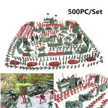500Pcs/set Military Plastic Model Toy Army Men Figures Playset Toys Decor Gift For Children Kids Boys 2-4cm(China)