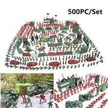 500Pcs/set Military Plastic Soldier Model Toy Army Men Figures Playset Toys Decor Gift For Children Kids Boys 2-4cm