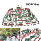 500Pcs/set Military Plastic Soldier Model Toy Army Men Figures Playset Toys Decor Gift For Children Kids Boys 2-4cm