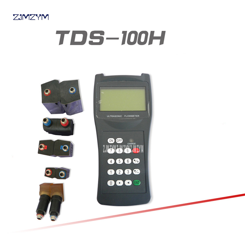 TDS-100H Handheld Ultrasonic Flow meter M2 ( 50-700mm ) with CD water flowmeter 100-240V Portable Handheld ultrasonic flowmeter l2 sensors transducer dn300mm dn6000mm apply to ultrasonic flow meter tds 100f and tds 100m flowmeter
