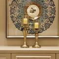 Креативный Американский Европейский Золотой Хрустальный подсвечник для дома аксессуары для дома современные аксессуары для стола
