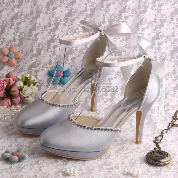 (20 Colors)Custom Color Silver Women Designer Heels Wedding Handmade Sandals Size 7