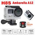 Frete grátis! H8S 4 K 30FPS FHD Wi-fi Ambarella A12S75 Ação Esporte DV Camera w/Controle Remoto