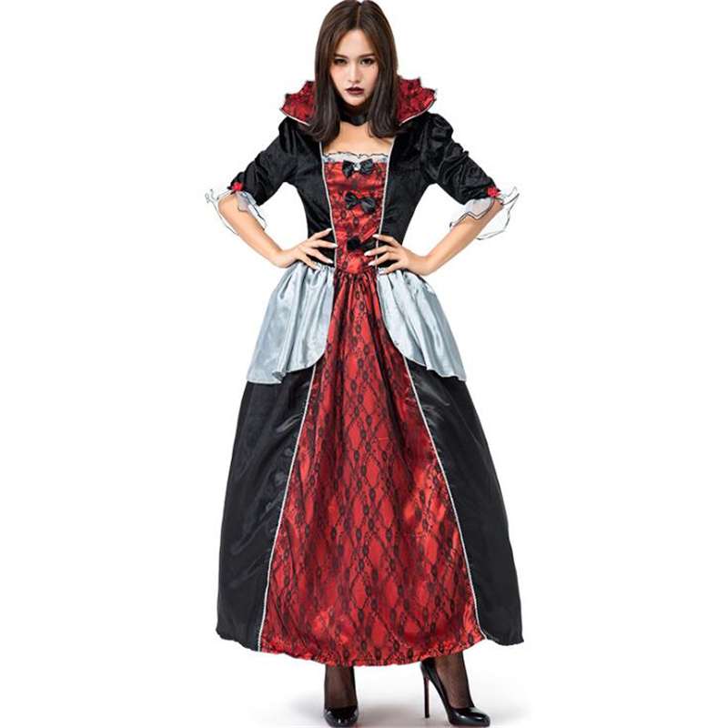 New Arrival Women Royal Court Vampire Costume Halloween Ghost Cosplay Clothing